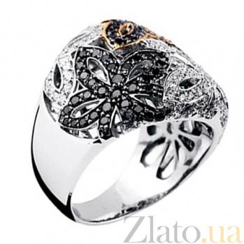 Золотое кольцо с бриллиантами Вальс цветов KBL--К1530/бел/брил