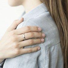 Золотое родированное кольцо Признание в чувствах в белом цвете с надписью LOVE