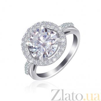 Серебряное кольцо с фианитами Аморетте 000025514