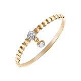 Золотое кольцо Цветущая любовь с бриллиантами, 18