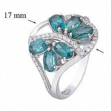 Серебряное кольцо с Лондон топазом  Вуаль