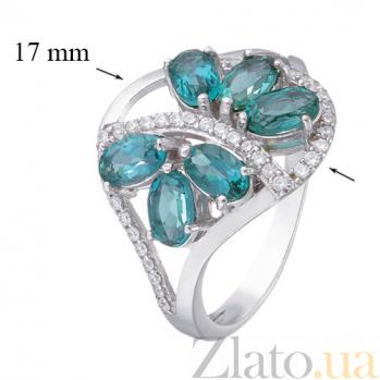 Серебряное кольцо с Лондон топазом  Вуаль 000015343
