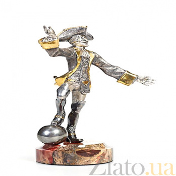 Серебряная статуэтка с позолотой Мюнхаузен 285/мюнх