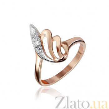 Серебряное кольцо с позолотой и цирконием Сурия 000025446