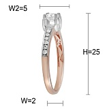 Золотое кольцо Бренда с бриллиантами
