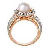 Кольцо из белого золота с фианитами Infinity