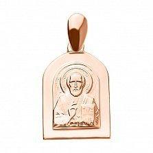 Золотая ладанка Николай Чудотворец с ликом святого