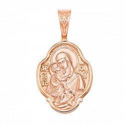 Ладанка из красного золота Богородица 000134982