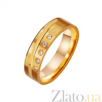 Золотое обручальное кольцо Респектабельность с фианитами TRF--4421268