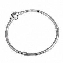 Серебряный браслет для шармов Double Love