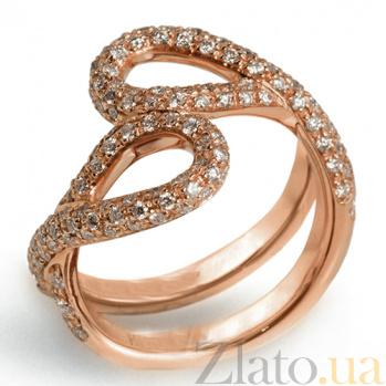 Кольцо Hausmann из розового золота с бриллиантами R-Hsm-R-40d