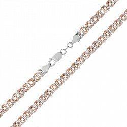 Серебряная цепь с позолотой, 2 мм 000072060