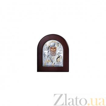 Серебряная икона Николая Чудотворца в дереве AQA--EP2-009XAG