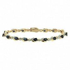 Золотой браслет с бриллиантами и сапфирами Милана