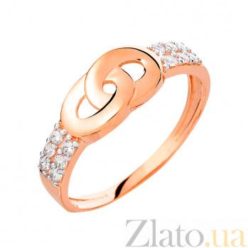 Золотое кольцо с фианитами Единение судеб SUF--140547