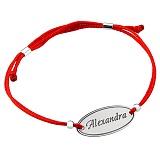 Шелковый браслет со вставкой Alexandra