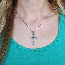Крестик из серебра Силы Небесные ІНЦІ с чернением