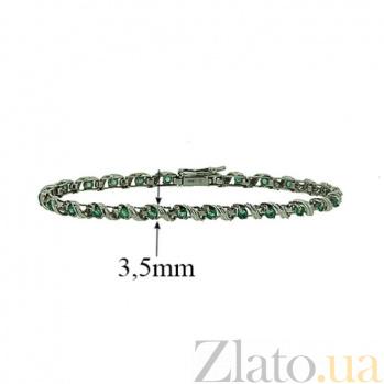 Серебряный браслет с изумрудами Stream ZMX--BE-31675-Ag_K
