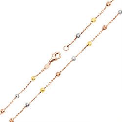 Золотой браслет в комбинированном цвете 000132382