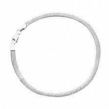 Серебряный браслет Фиона, 19 см