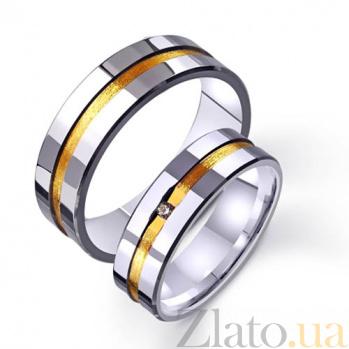 Золотое обручальное кольцо Законы любви с фианитом TRF--4421454
