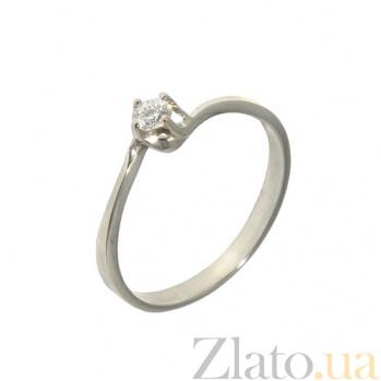 Золотое кольцо Лайви с бриллиантом 000019700