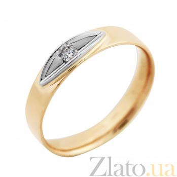 Золотое кольцо Эльче с бриллиантом VLA--15820