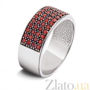 Серебряное кольцо с красными фианитами Радуга 1339р крас
