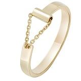 Золотое кольцо в желтом цвете Импульс