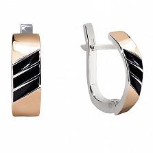 Серебряные сережки со вставками золота Марвен