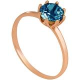 Золотое кольцо Саманта с топазом лондон