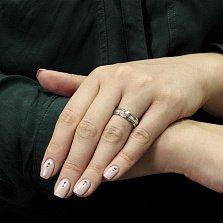 Серебряное обручальное кольцо Сильвия с цирконием