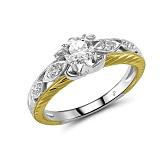 Кольцо из желтого и белого золота Ксимена с бриллиантами