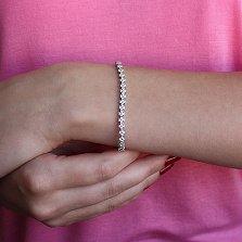 Браслет из белого золота Драгоценный веночек с бриллиантами