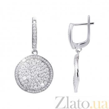 Серебряные серьги подвески Лунный свет AQA--WJE-0026-3