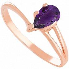 Золотое кольцо с аметистом Кармелла