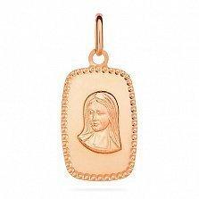 Ладанка из красного золота Дева Мария