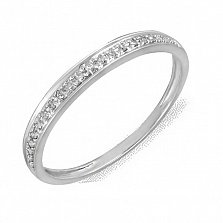 Кольцо из белого золота с бриллиантами Амина