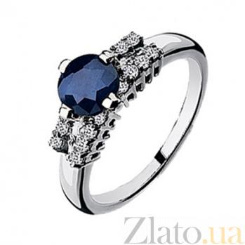Золотое кольцо с сапфиром и  бриллиантами Верона KBL--К1531/бел/сапф