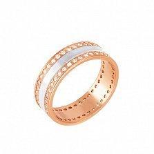Золотое обручальное кольцо Радости любви с фианитами