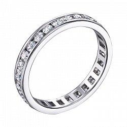 Кольцо из белого золота с бриллиантами 000136572