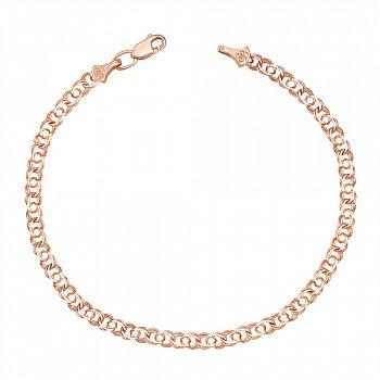 Золотой браслет Арабка в красном цвете, 4мм 000127268