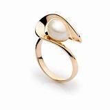 Кольцо из красного золота с жемчугом Тимьян