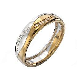 Кольцо из комбинированного золота с бриллиантами Арлайна