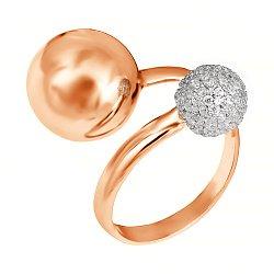 Серебряное кольцо с фианитами 000028193