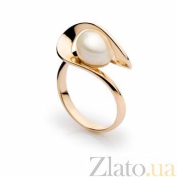 Кольцо из красного золота с жемчугом Тимьян 000005975