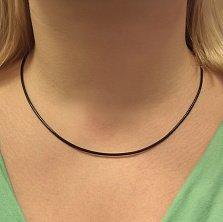 Шнурок из вощеного текстиля Минимализм с классической серебряной застежкой, 2мм