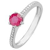 Серебряное кольцо с рубином Лея