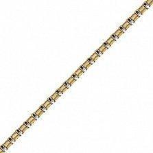 Золотая цепочка Венеция в комбинированном цвете