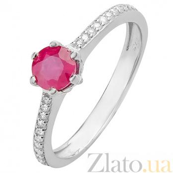 Серебряное кольцо с рубином Лея 1840/9р руб